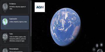 Vista del Mundo desde Google Earth