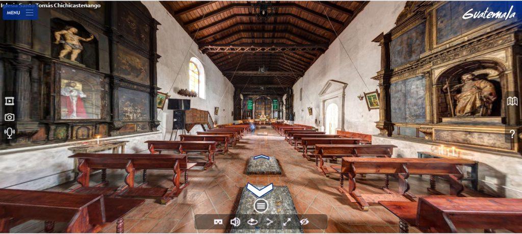 Vista 360 de la iglesia de Chichicastenango, Quiché.