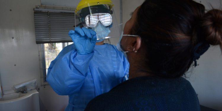 Ministerio de Salud realiza tamizajes en los laboratorios móviles./Foto: MSPAS.