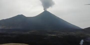 Conred informa de la actividad del volcán de Pacaya.
