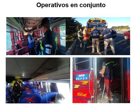 El Ministerio de Comunicaciones realizan operativos en buses del transporte público