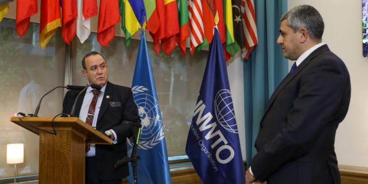 Presidente Giammattei se reúne con secretario general de la Organización Mundial de Turismo
