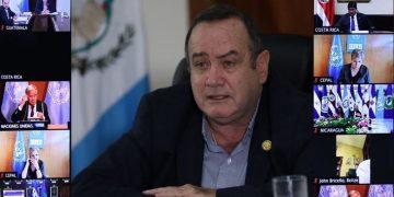 Participación del presidente Alejandro Giammattei en reunión virtual del Sica-ONU.