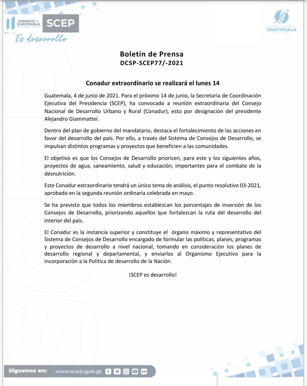 Boletín de Prensa SCEP