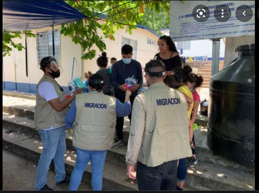 El Instituto Guatemalteco de Migración envía asistencia humanitaria para el Puesto Fronterizo de El Ceibo